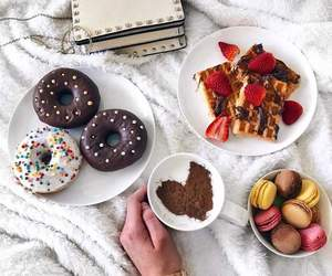 food, donuts, and drink image