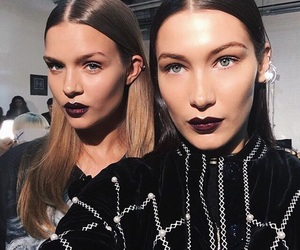 bella hadid, model, and josephine skriver image