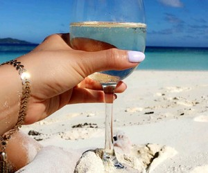 beach, relax, and drinks image