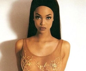 tyra banks, model, and 90s image