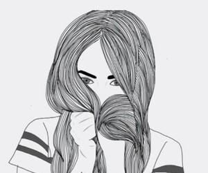 bianco e nero, girl, and hair image