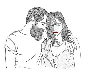 couple, art, and draw image