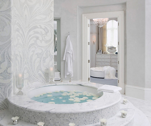 bathroom, luxury, and white image