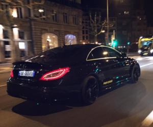 car, mercedes, and black image