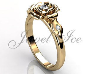 diamond ring, etsy, and vintage ring image