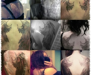 Angel Wings, back tattoo, and wing tattoo image