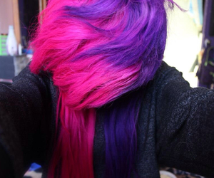 hair, pink, and scene image