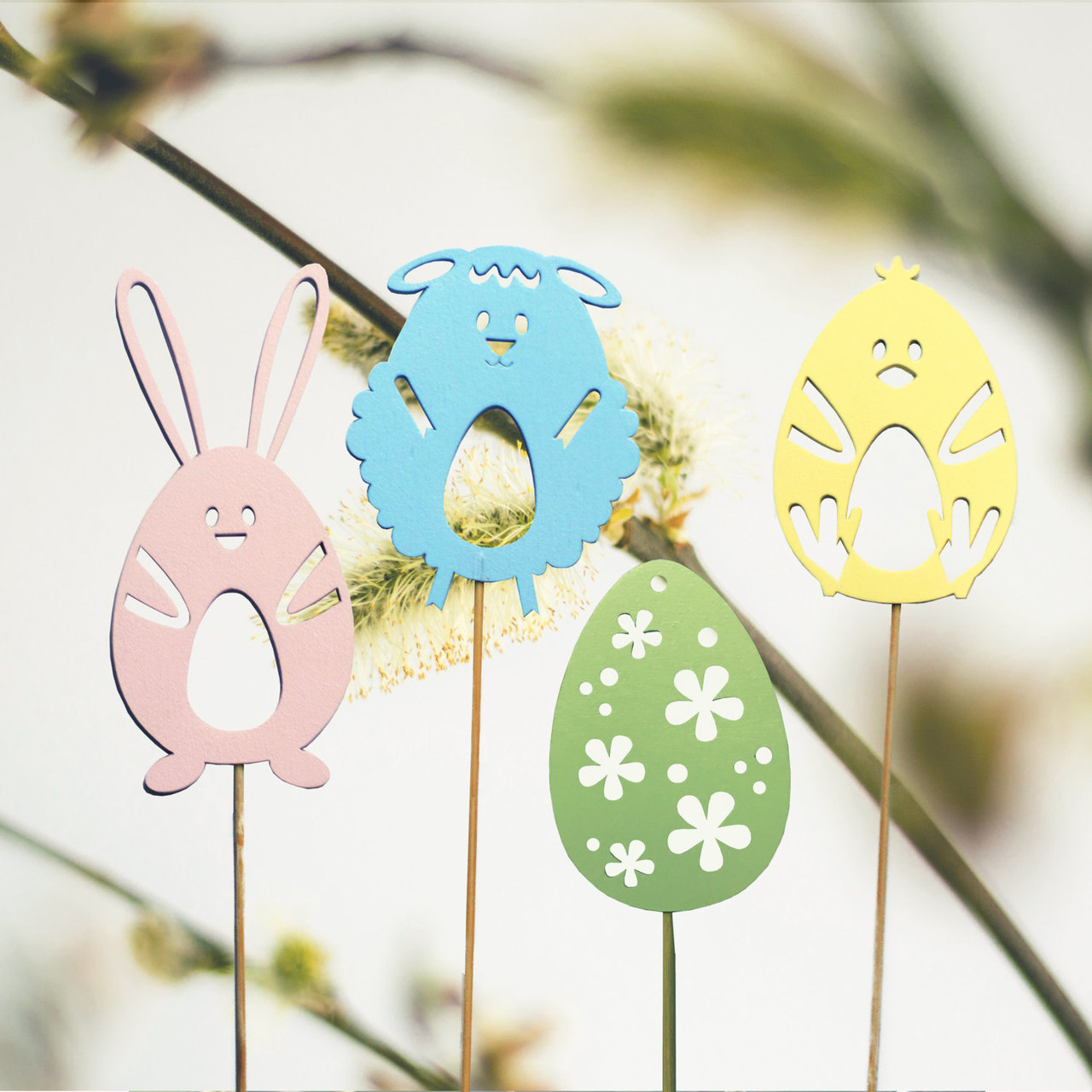 Wooden Easter Ornaments Easter Decorations Easter Gift