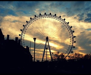 london, clouds, and london eye image