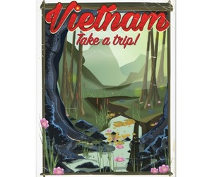 Vietnam, vietnam cave, and vietnam cartoon poster image