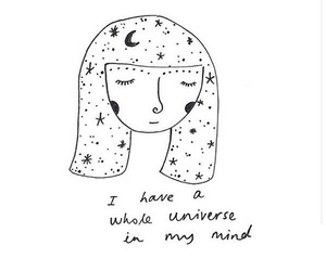 girl, quotes, and universe image