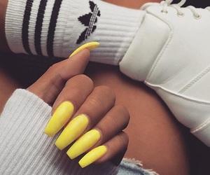 nails, adidas, and neon image
