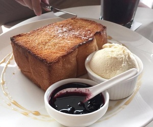 food, breakfast, and ice cream image