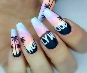 nails, hollywood, and nail art image