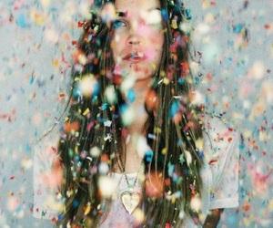 colorful, confetti, and girl image