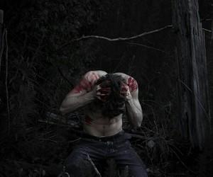 blood, boy, and dark image