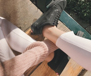 pink, sweater, and vans image