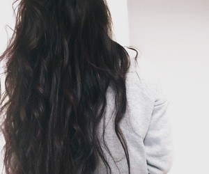 black, curls, and curly hair image