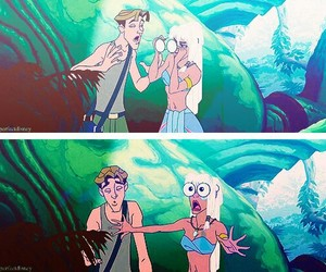 disney, atlantis, and funny image