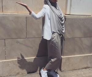 girl, hijab, and mode image