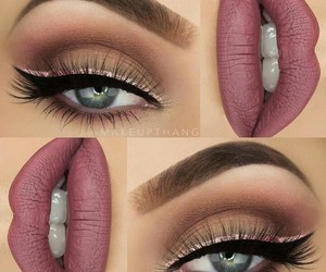 makeup, lips, and eyebrows image