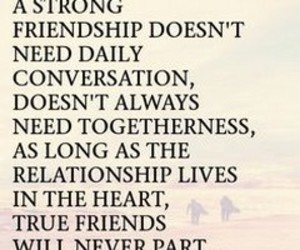 distance, messages, and true friends image