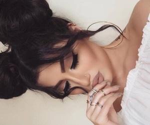 beautiful, buns, and makeup image