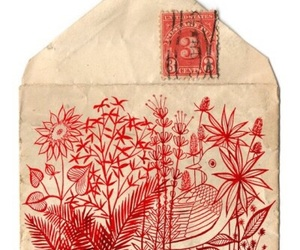 red, art, and envelope image