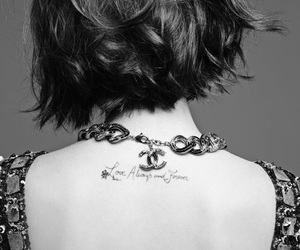 lily collins, chanel, and tattoo image