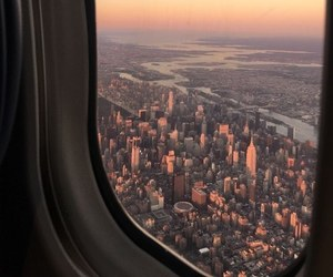 new york, plane, and travel image