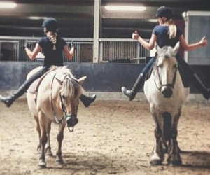 horseriding and friends image