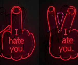 hate, red, and grunge image