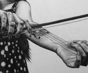music, violin, and love image