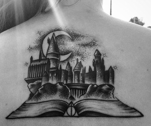 hogwarts, harry potter, and harry potter tattoos image