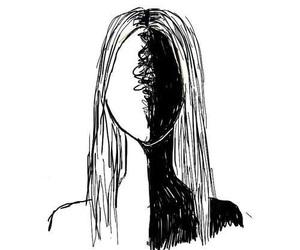 black, white, and art image
