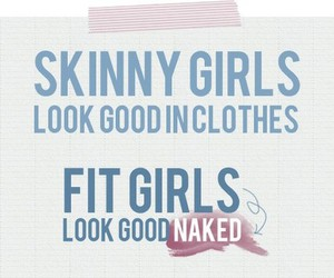 fit, girl, and text image