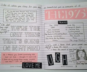 the 1975, journal, and pink image