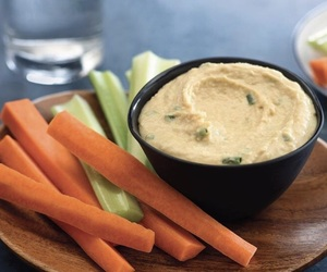 carrot, celery, and hummus image