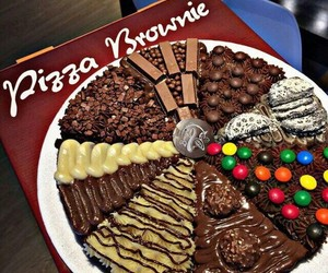 chocolate, food, and pizza image