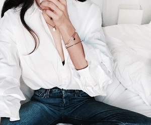 beauty, clothes, and denim image