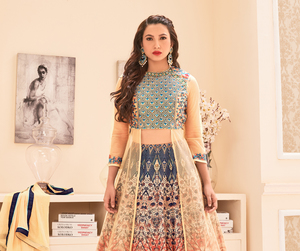 bollywood, women, and partywear image