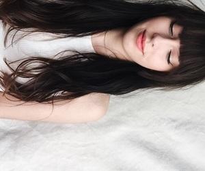 aesthetic, bangs, and girl image