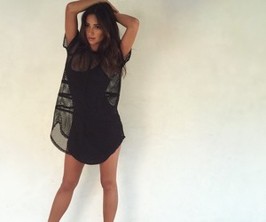 shay mitchell, dress, and pretty little liars image