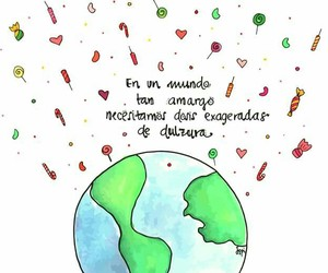 mundo, frases español, and actitud image