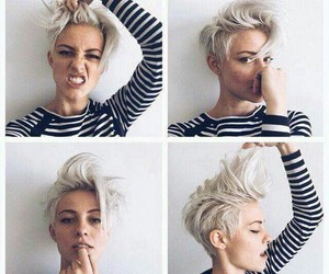 hair, short, and beauty image