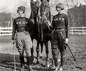 black and white, vintage, and horse image