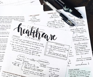 calligraphy, notes, and school image
