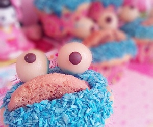 cake, cookie monster, and food image