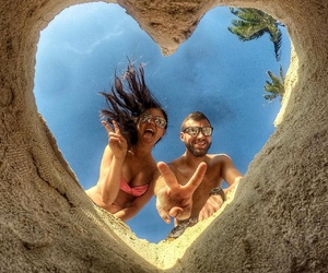 awesome, beach, and couple image