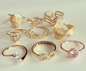 beauty, ornaments, and ring image